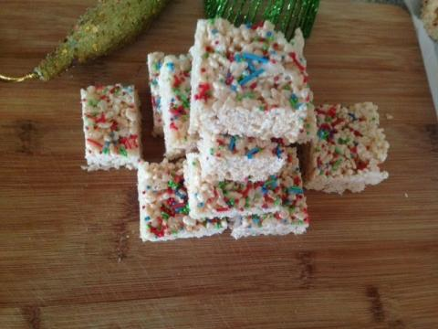 Festive Rice Crispy Squares Recipe | Holiday Treats
