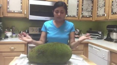 Cutting Open a Jackfruit
