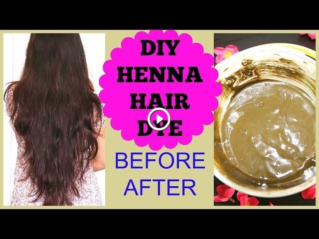 How To Apply Henna On Hair At Home Henna Hair Before After Results