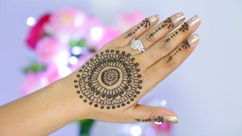 Easy Henna Design Step By Step Tutorial | SuperPrincessjo