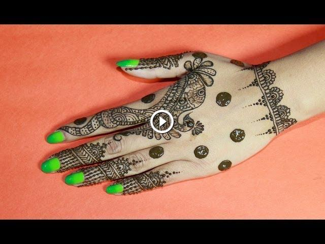 Simple Mehndi Step By Step : How to draw unqiue & simple henna design : best mehndi designs 2014