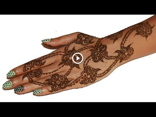 How To Draw Simple Easy Henna Design