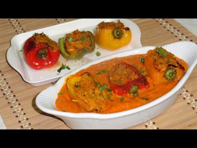 Top videos from ava360 hindi community food bharela simla mirch video recipe stuffed bell peppers recipe by bhavna forumfinder Image collections