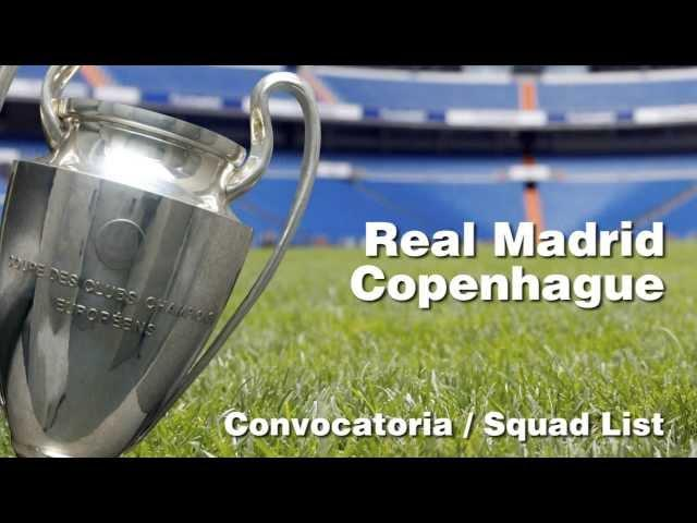 CONVOCATORIA / SQUAD LIST: Real Madrid-Copenhagen