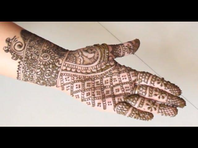 Easy Simple Henna Design How To Draw Henna Mendhi For Full Hand