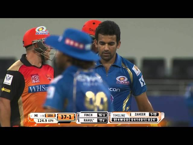 Lokesh Rahul scored crucial 46runs (IPL2014: MI vs SRH - 20th Match)