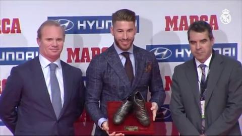 Congratulations to Sergio Ramos, who has been recognised as the Spanish national team's best player!