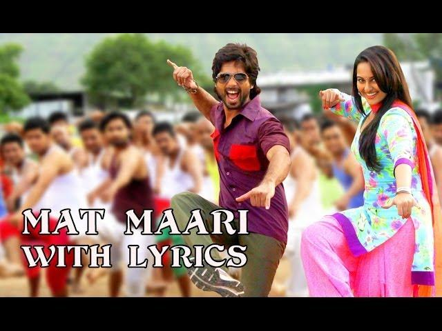 Mat Maari - Full Song With Lyrics - R...Rajkumar