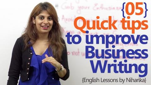 05 quick tips to improve your Business Writing - Business English Lesson