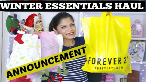 Secret ANNOUNCEMENT | Winter Essentials HAUL | Forever 21, H&M, Bugis Singapore | SuperPrincessjo
