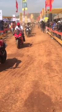 India Bike Week 2016 Main Street witnesses the Ducati India Rally