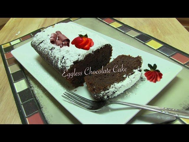 Easy Chocolate Cake Recipe Video | No Egg | No Dairy by Bhavna