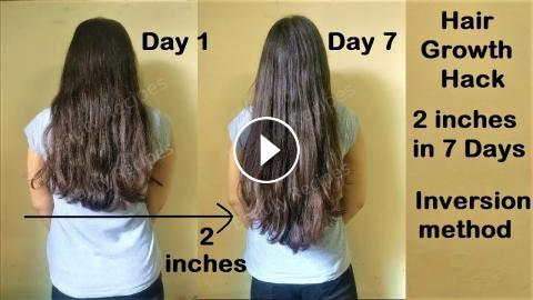 Hair Growth Hack 2 Inches Hair Growth In 1 Week With