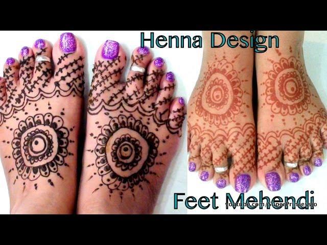 How To Make Henna Mehendi Designs For Feet Indian Pakistani Arabic