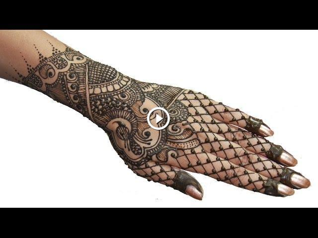 Mehndi Hairstyles Step By Step : Indian pakistani bridal full hand mehendi henna design