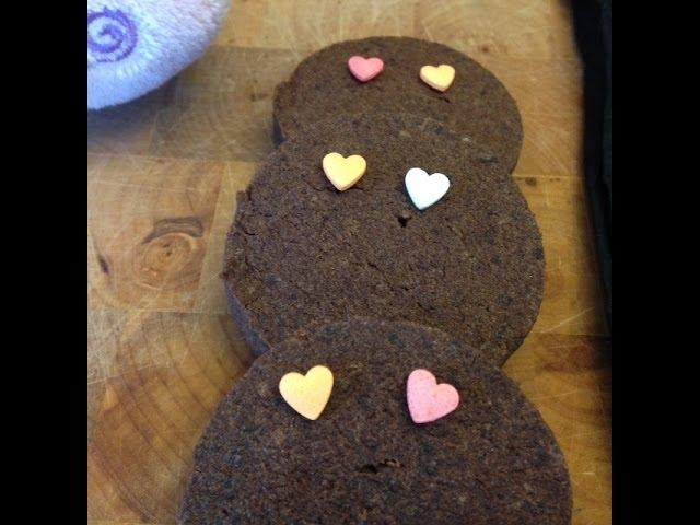 Valentine's day Chocolate Cookies Recipe - 4 ingredient cookies recipe